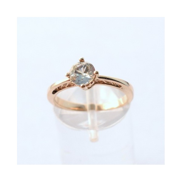 WHITE BLUE SAPPHIRE GOLD RING