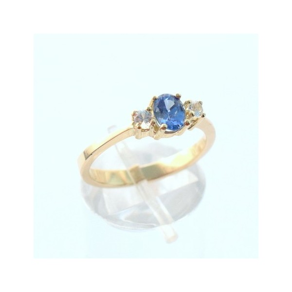 BLUE SAPPHIRE GOLD RING