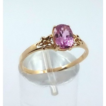 PINK SAPPHIRE GOLD RING