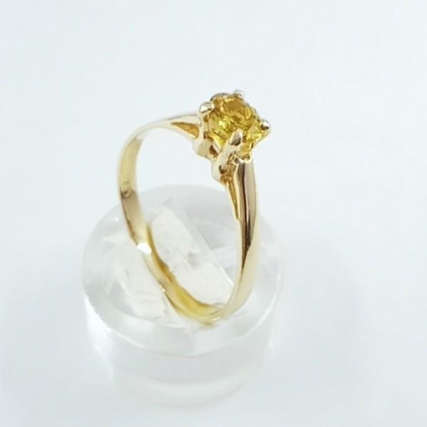 YELLOW SAPPHIRE GOLD RING