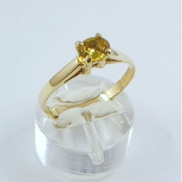 YELLOW SAPPHIRE GOLD RING