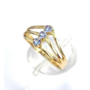 TANZANITE GOLD RING